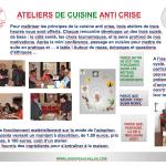 AFFICHE DES ATELIERS DE CUISINE ANTI CRISE