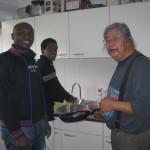 ZInvol Koken met Feng bij Imani. 5 feb 2013