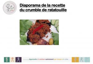 Diaporama crumble ratatouille