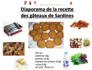 Logo diapo recette gateaux sardines