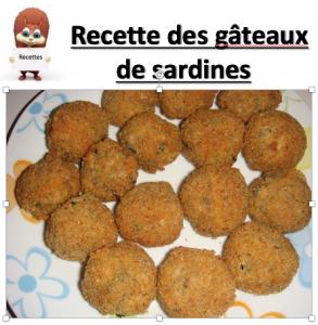 Logo recette A4 gateaux sardines