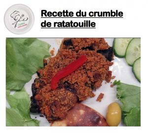 image du crumble ratatouille